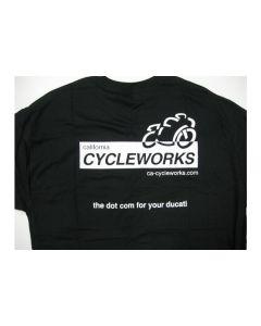 CA Cycleworks Logo Womens Black T-Shirt Large