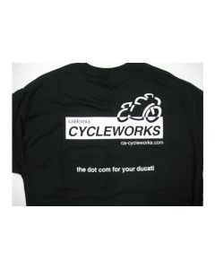 CA Cycleworks Logo Womens Black T-Shirt Large
